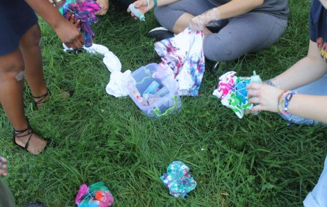 Dye-Versity: Diversity Club Tie-Dyes During First Official Meeting