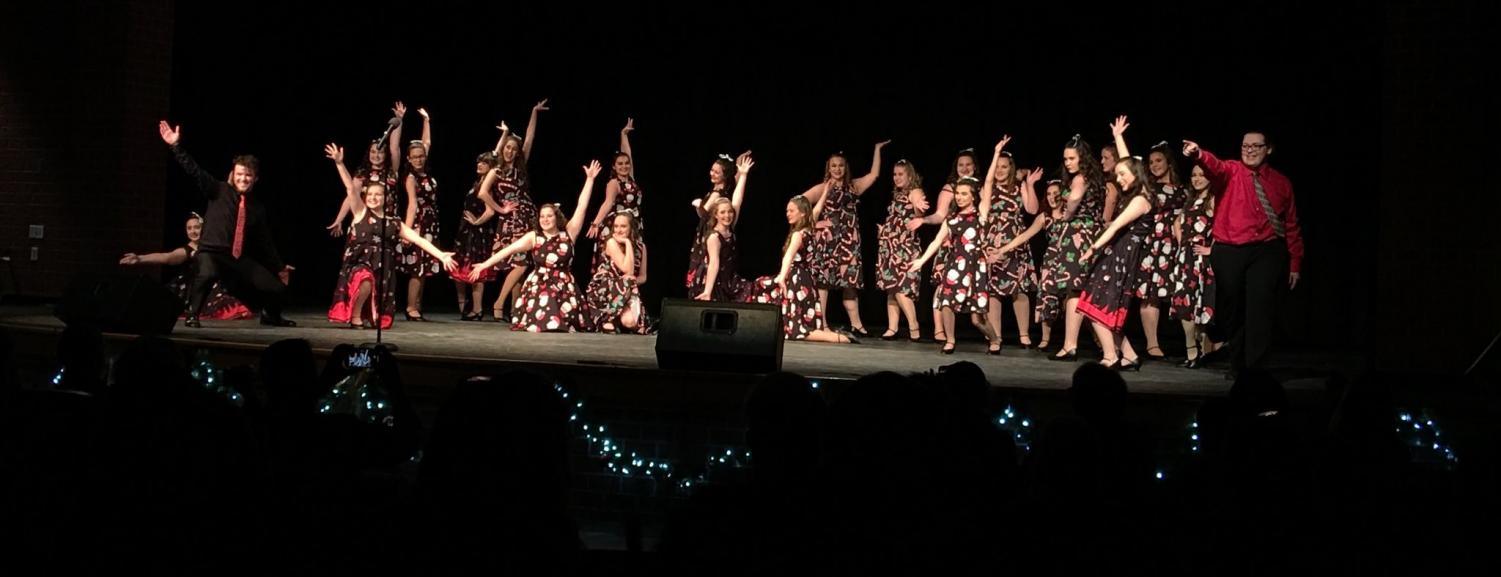 FLIGHT Show Choir performing their holiday show.