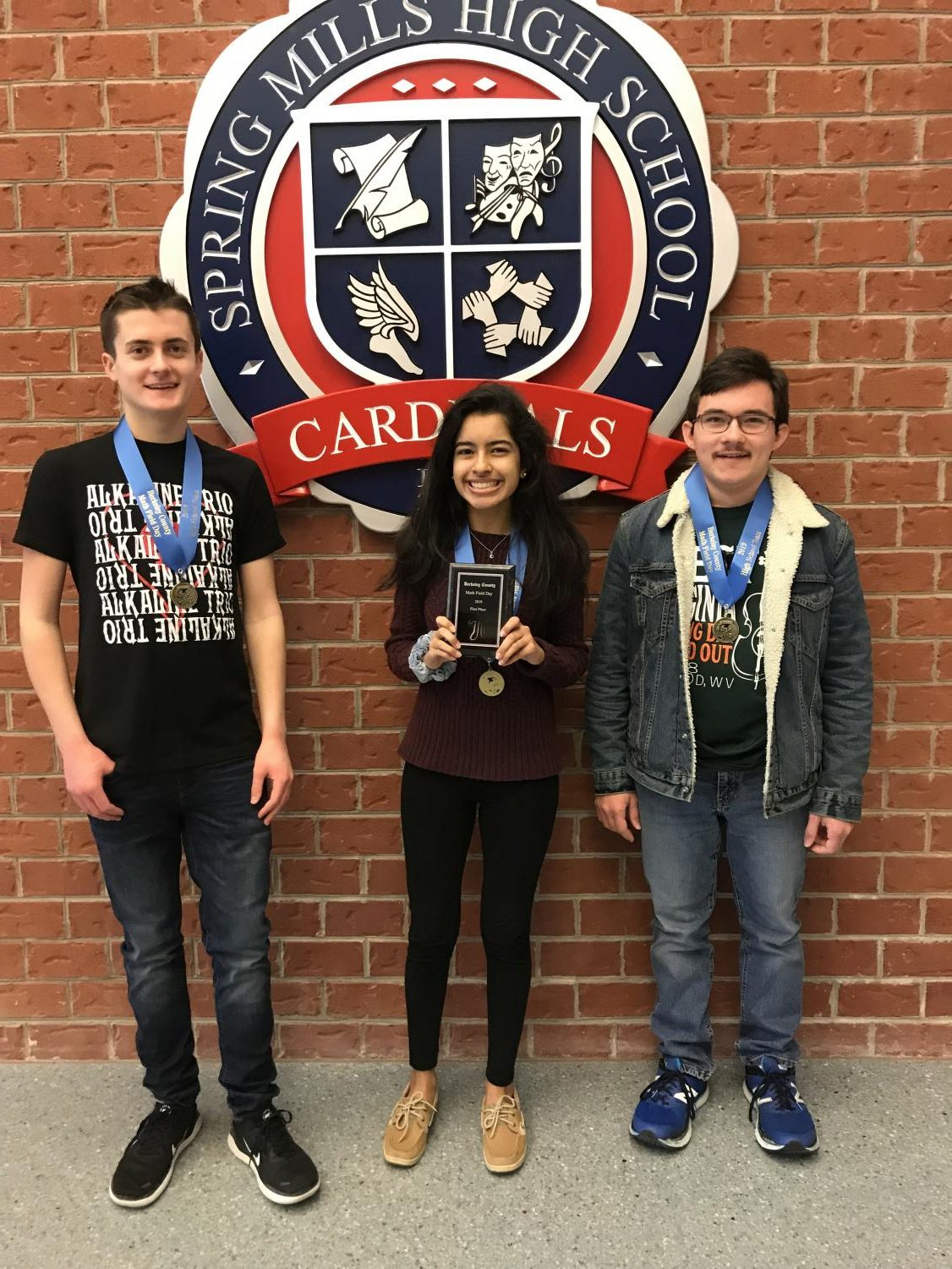 Top placers of SMHS in Math Field Day