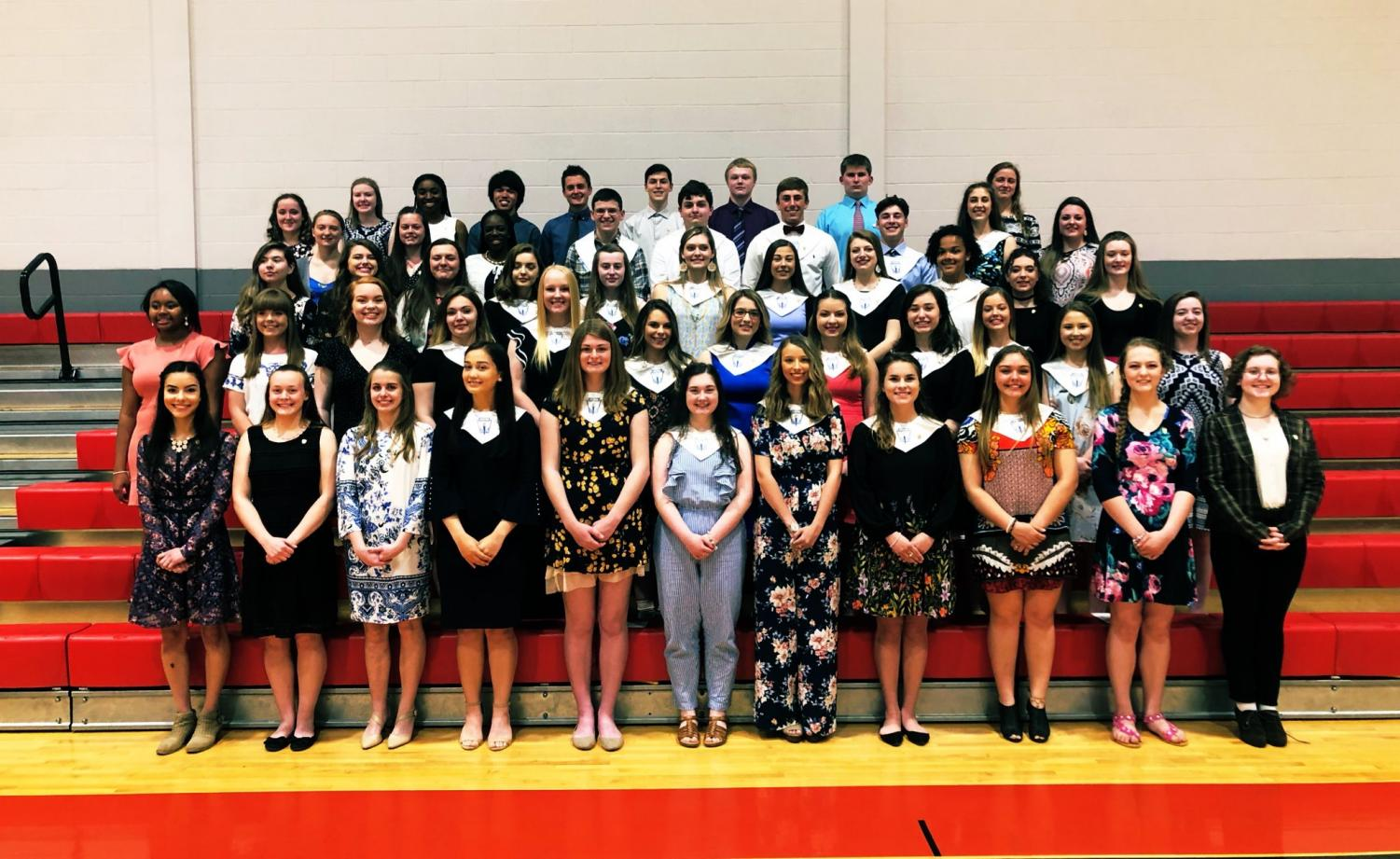 The 2019 members of National Honors Society.