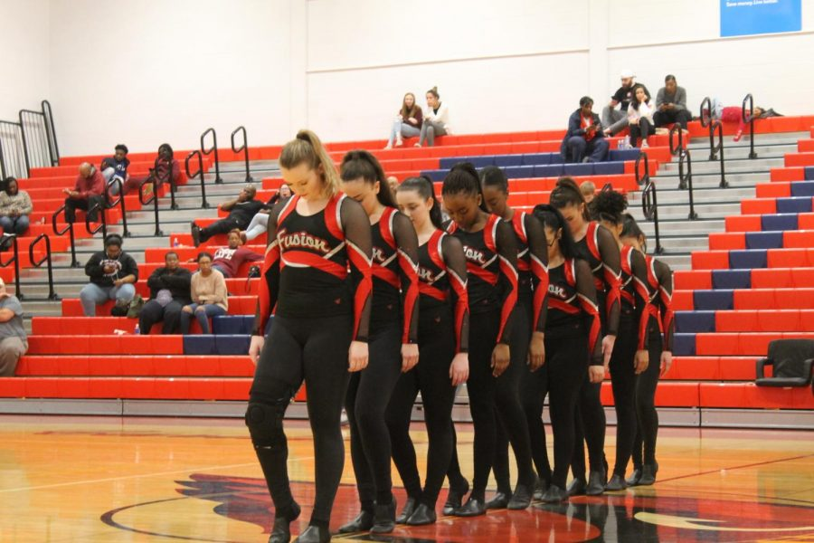 SMHS Fusion Dance Team Spins Their way to the Basketball Game