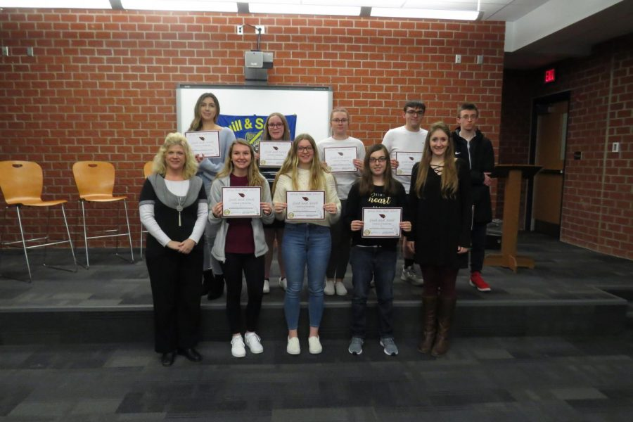 Spring Mills High School Quill and Scroll Inductions